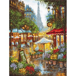 Kit point de croix compté  Fleurs de printemps  Paris 923  Letistitch