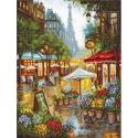 Kit point de croix compté  Fleurs de printemps  Paris 923  Letistitch
