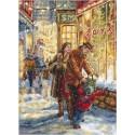 Kit point de croix  Attente de Noël 943  Letistitch