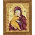 Kit point de croix  Icône  Our Lady of Vladimir 1300  Riolis