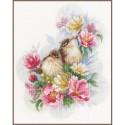 Kit point de croix  Oiseaux sur une branche 0185003  Lanarte