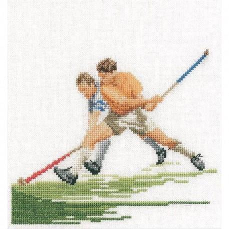 Kit point de croix  Le hockey 3089  Thea Gouverneur