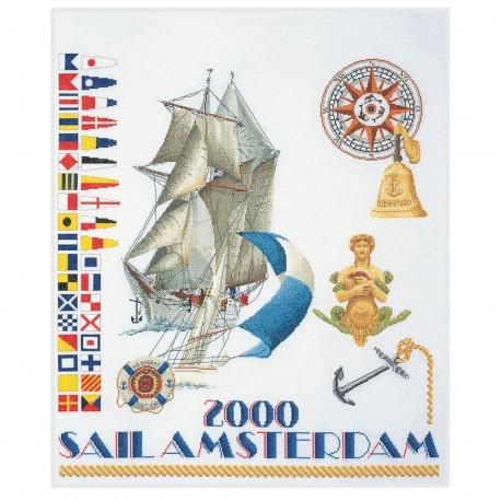 Kit point de croix compté  Sail 2000 3080  Thea Gouverneur