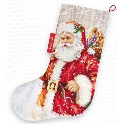 Kit de chaussette de Noël à broder  En route PM1230  Luca-S