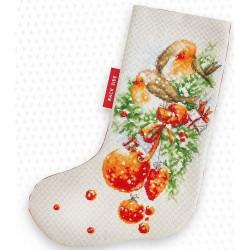 Kit de chaussette de Noël à broder  Décoration de Noël PM1229  Luca-S