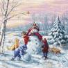 Kit point de croix  Joyeux Noël B2358  Luca-S