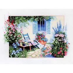 Kit point de croix  Jardin de fleurs B2342  Luca-S