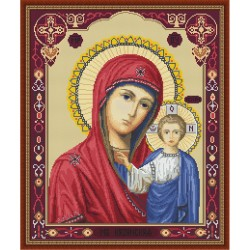 Kit point de croix  Icône  Notre Dame de Kazan B446  Luca-S