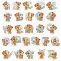 Kit point de croix  Alphabet  Oursons B1201  Luca-S