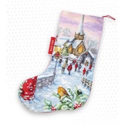 Kit de chaussette de Noël à broder  Noël PM1240  Luca-S