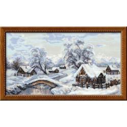 Riolis  kit Winter Village  Collection Premium  Riolis  100/002 | Broderie du monde