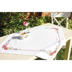 Kit de nappe à broder  Roses FM006  Luca-S