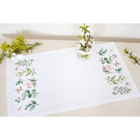 Kit de chemin de table à broder  Fleurs de printemps FM019  Luca-S