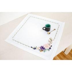 Kit de napperon à broder  Composition de fleurs FM021  Luca-S