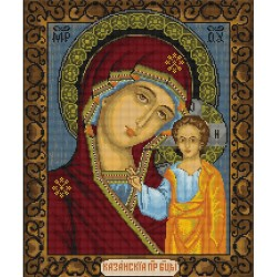 Kit point de croix  Icône  Notre Dame de Kazan B436  Luca-S