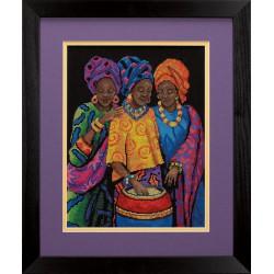 Dimensions | kit  broderie  point de croix  compté  Beautés de Yoruba | Dimensions  D35254 | Broderie du monde