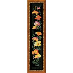 Riolis  kit California Poppy  Collection Premium  Riolis  100/012 | Broderie du monde