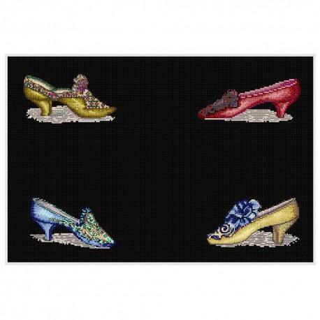 Kit point de croix  Chaussures 3023-05  Thea Gouverneur