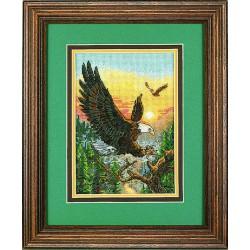 Dimensions | kit  broderie  point de croix  compté  Ange du crépuscule | Dimensions  D06711 | Broderie du monde
