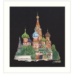 Kit point de croix  Cathédrale  Saint  Basile  Moscou 513-05  Thea Gouverneur  Aida noir
