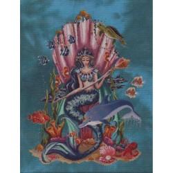 Fiche point de croix  Amphitrite  Reine de la mer BF0720  Bella Filipina