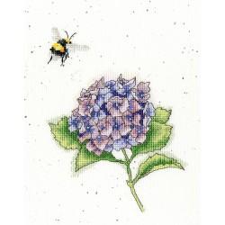 Kit point de croix  L'abeille occupée XHD75  Bothy Threads
