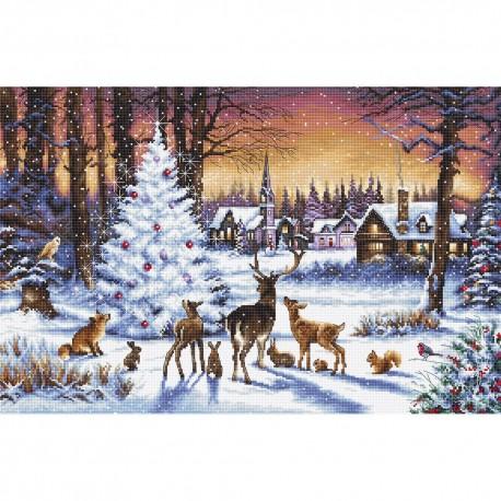 Kit point de croix  Bois de Noël 947  Letistitch