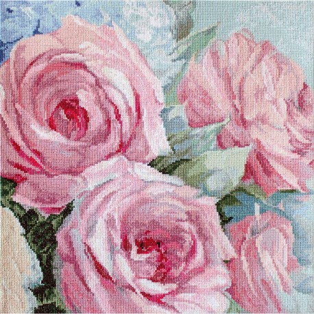 Kit point de croix  Roses rose 928  Letistitch