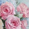 Kit point de croix  Roses rose 928  Letistitch