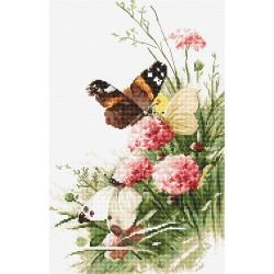 Kit point de croix  Papillons sur les fleurs 938  Letistitch