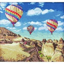 Kit point de croix  Montgolfières sur le Grand Canyon 961  Letistitch