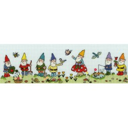 Bothy Threads  Row  of  Garden  Gnomes  XRO10