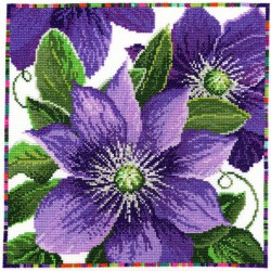 Bothy Threads  XGF5  Garden Flowers  Clematis
