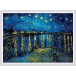 Kit Broderie Diamant  Nuit étoilée  d'après  Van Gogh  AM0044  Riolis