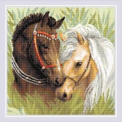 Kit Broderie Diamant  Paire de chevaux AM0039  Riolis
