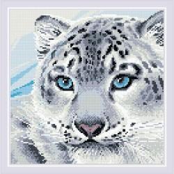 Kit Broderie Diamant  Léopard des neiges AM0040  Riolis