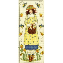 Bothy Threads  kit  broderie  point de croix  compté  Country Lass  April | Bothy Threads  XCL1 | Broderie du monde