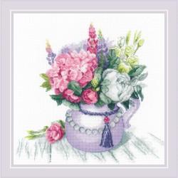 Kit point compté  Charme floral 1931  Riolis