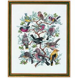 Kit point de croix  L'Arbre aux Oiseaux 12-266  Eva Rosenstand