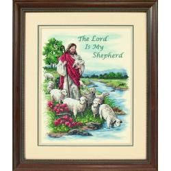 Dimensions | kit  broderie  point de croix  estampé  Le Seigneur est mon berger | Dimensions  D03222 | Broderie du monde