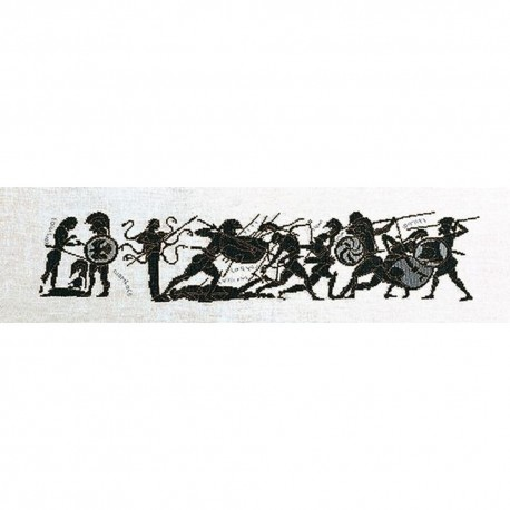 Thea Gouverneur 951A  Grèce Achille  Broderie  Point de croix compté  sur  Aida