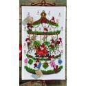 Kit point de croix  Calendrier de l'Avent  Carrousel 34-9220  Permin
