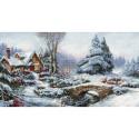 Kit point de croix  Paysage de neige BU5002  Luca-S