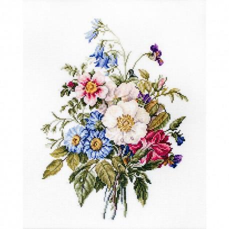 Kit point de croix  Bouquet de fleurs d'été BU4004  Luca-S