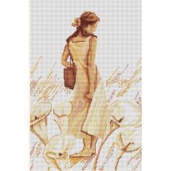 Kit point de croix  Portrait de Femme B268  Luca-S