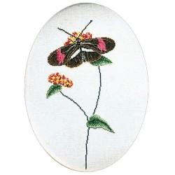 Kit point de croix  Papillon brun-rose 1021  Thea Gouverneur