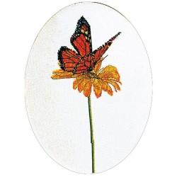 Kit point de croix  Papillon orange 1023  Thea Gouverneur