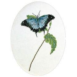 Kit point de croix  Papillon bleu 1024  Thea Gouverneur