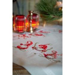 Kit de chemin de table à broder  Noël 0172673  Vervaco