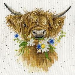 Kit point compté  La vache Daisy XHD42  Bothy Threads